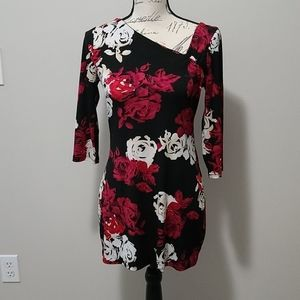 White House Black Market Rose Shirt Tunic XS
